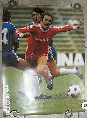 Vintage ADIDAS Advertising Poster - SOCCER 1976 *RARE Cleats