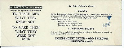 J-130 - Vintage Odd Fellows Advertisng Blotter To Teach Men What They Knew Not