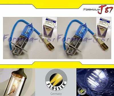 FLOSSER SILVER BLUE H3 70W TWO BULBS HEAD LIGHT REPLACEMENT FOG LAMP RALLY WHITE