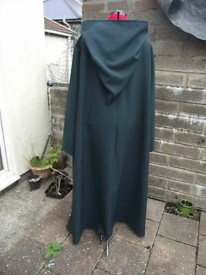 oversized bottle green  hooded cloak with sleeves. more colours cosplay wizard