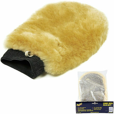 Meguiars Lambswool Wash Mitt Reduces Risk Of Scratches Sponge Bug Remover A7301