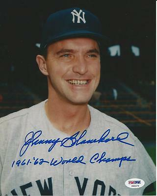 Johnny Blanchard Yankees Signed Auto 8x10 Photo PSA/DNA Certified