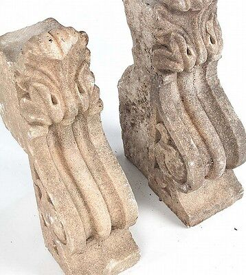 Pair of Classical style carved stone corbels - Architectural Salvage