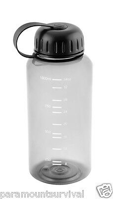 1 Liter Wide Mouth Water Bottle Smoke Color BPA Free Camping Hiking Survival NEW