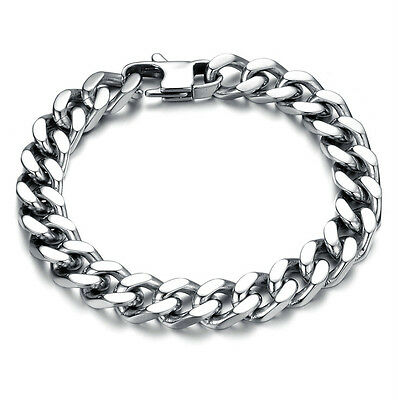 High Quality Mens Thick 316L Stainless Steel Chain Bracelet - 3 Sizes