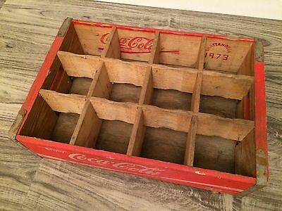 Vintage Coke Coca Cola Soda Wood Pop Case Crate 12 Dividers