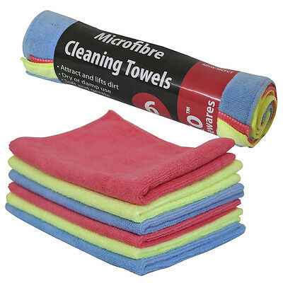 18 x Large Multi Purpose Microfibre Cleaning Cloth Towels Polishing Dust Drying