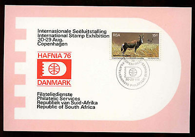 South Africa 1976 Stamp Exhibition Card #C13769