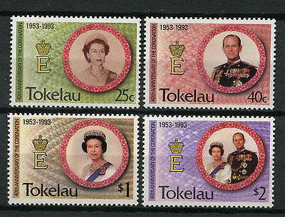 Tokelau 1993 SG#197-200, 40th Anniv Coronation MNH Set #A78729