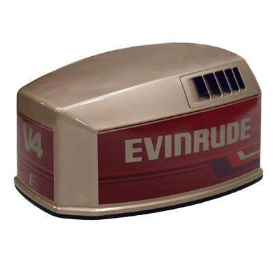 Evinrude Brp / Omc 115 V4 Bronze / Red Outboard Boat Motor Top Cowling / Hood