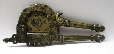 Rare Indian Vintage Hand Crafted Brass Betel Nut Cutter Sarota Fine Bird Figure