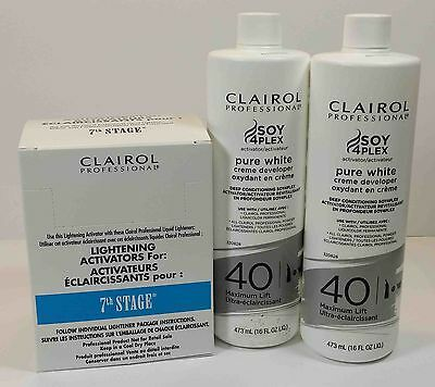 Clairol 7th Stage Lightening Activator 2lot White Crème Developer 16oz