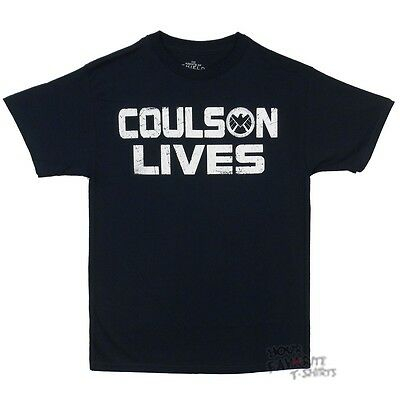 Marvel Agents Of Shield Coulson Lives Marvel Comics Licensed Adult T Shirt