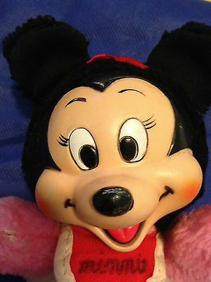 Vintage MINNIE MOUSE Disneyland Minnie Mouse plush Rubber face
