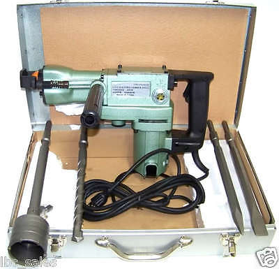 """1-1/2"""" Electric Rotary Demolition  Hammer Drill 2 In 1  With Core Drill Bit Set"""