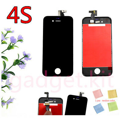 Black Replacement LCD Display Touch Screen Digitizer Assembly For iPhone 4S new