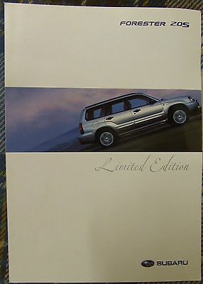 Subaru Forester 2.0 S Limited Edition Brochure 2005