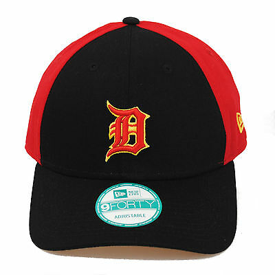 online retailer 3daed f1303 ... get new era 9forty detroit tigers two team play red black strapback mlb hat  cap d5438