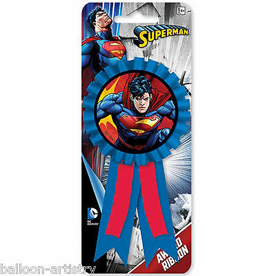 DC Comic Book SUPERMAN Superhero Children's Party Award Ribbon Prize Badge