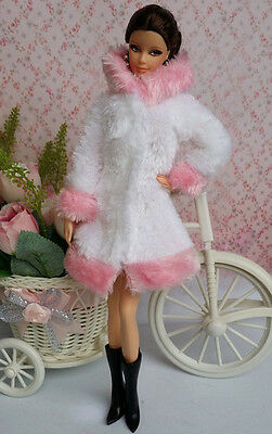 Lovely Fashion Winter fur Coats Clothes/Outfit For Barbie Doll C-u05