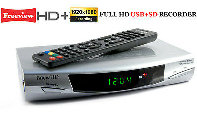 FULL HD 1080P Freeview TV Receiver Media Player Tuner Set Top Box HDMI + SCART