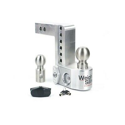 "Weigh Safe WS6-2 Adjustable 6"" Drop Hitch Ball Mount w/2"" Shaft & Weight Scale"