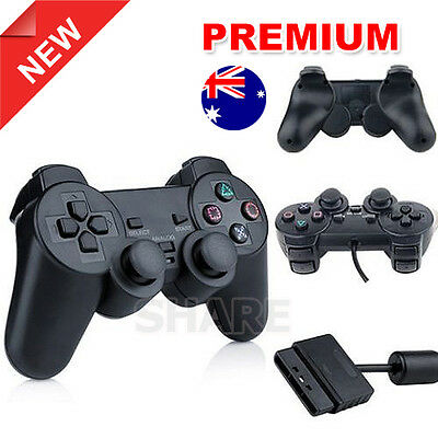 OZ L Dual Shock Wired Game Gamepad for Sony Playstation 2 PS2 Controller