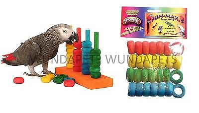 Zoomax Teacher Toy Medium Large Parrot Training Interactive Toy + Refill Options