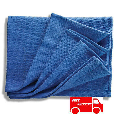 100 New Blue Glass Cleaning Shop Towel/huck Towels