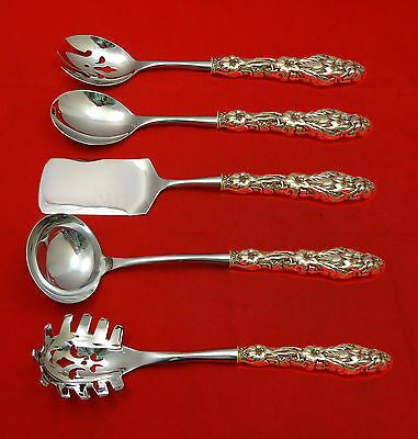 LILY BY WHITING STERLING SILVER HOSTESS SET 5-PC HHWS CUSTOM MADE