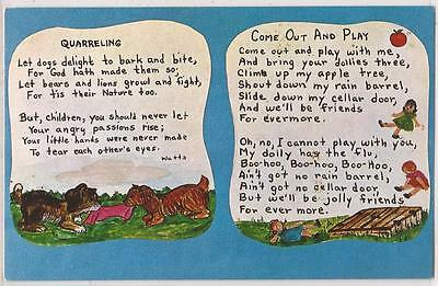 1960s Gaylord, Michigan Postcard Call of the Wild Museum 2 Poems & Art - Unused