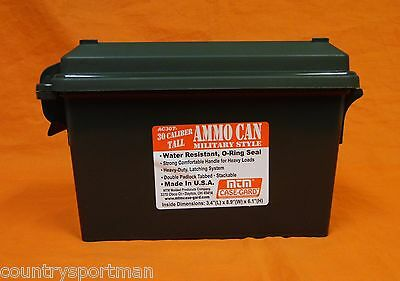 MTM CASE-GARD 30 Caliber Tall Military Style Ammo Can #AC 30T-11 Forest Green