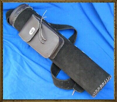Suede Leather Quiver with Large Pocket Archery Arrows Reenactment