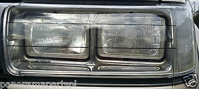Toyota Landcruiser 80 Series Headlamp Covers STD GXL GENUINE NEW 1990-1997