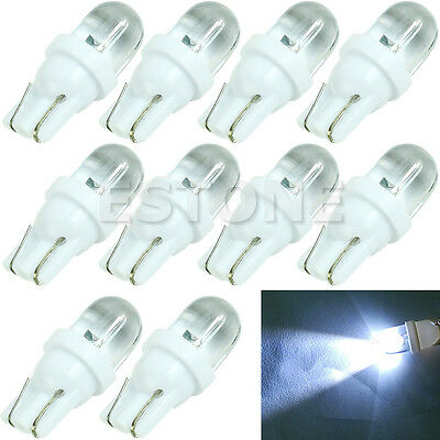 10X T10 194 168 W5W Bright White LED Side Auto Car Wedge Light Lamp Bulb DC 12V
