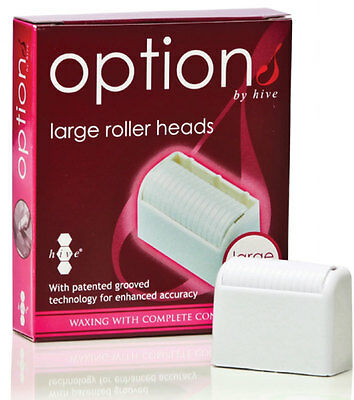 Hive Depilatory Wax Replacement Cartridge Large Roller Heads Pack of 6 HOB6500