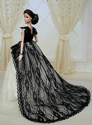 Fashion Royalty Princess Party Dress Clothes/Gown For Barbie Doll S-u152