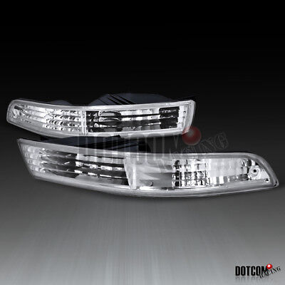 94-97 Acura Integra Replacement Clear Signal Bumper Lights Driving Lamps 95 96