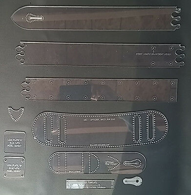 2 guitar strap template set many customizing options for leather
