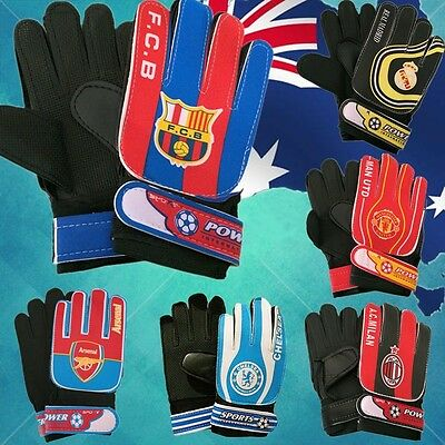 Child Football Soccer Goalkeeper Gloves FCB Real Madrid Arsenal AC MUFC OGLOV61