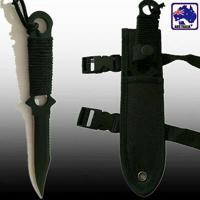 Black Knife Blade Hunting Fishing Military Tactical Dagger Knives OKNIF4409