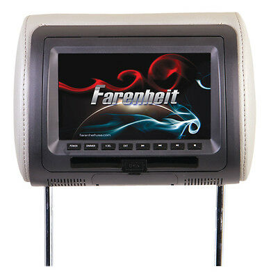"Power Acoustik HRD71CC Farenheit Replacement Headrest 7"" LCD"
