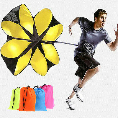 """Speed running power Chute resistance exercise training parachute New 56"""" Sports"""