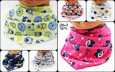 NEW 4 pcs Kids Bandana Bibs Baby Cotton Dribble Catcher Boys Girls Scarf Unisex
