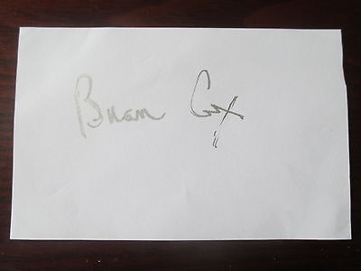 Scottish Actor Brian Cox Handsigned Autograph.