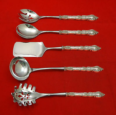 Meadow Rose by Wallace Sterling Silver Hostess Set 5pc HHWS  Custom Made
