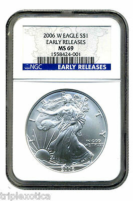 2006-W  NGC MS-69 Burnished American Silver Eagle    ~Early Releases~