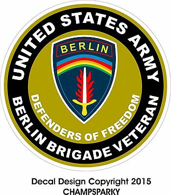 "United States Army Berlin Brigade Veteran Decal Sticker 4.5"" European Command"