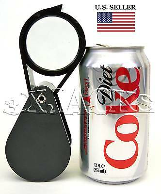 Extra Large Xl Folding Fold Away Eye Loupe Loop Magnifier Magnifying Glass Lens