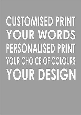 Create Your Own Custom Quote Personalised Art Typography Print Poster A4 Design